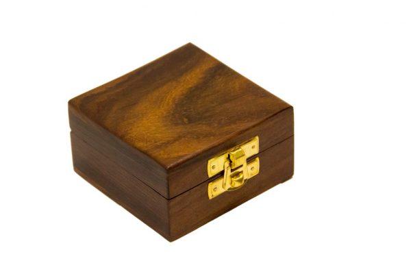 Pudełko drewniane 6.5x6.5x4 cm