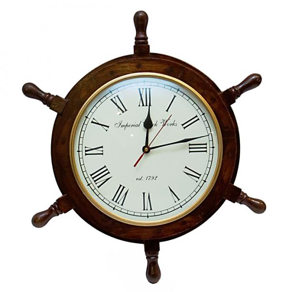 koło sterowe z zegarem