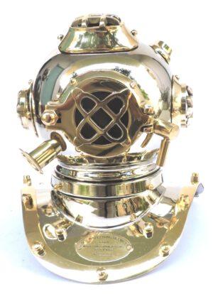 hełm nurka złoto-srebrny