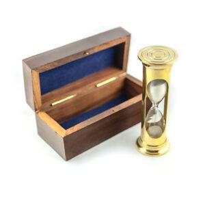 klepsydra mosiężna round pudełko drewniane