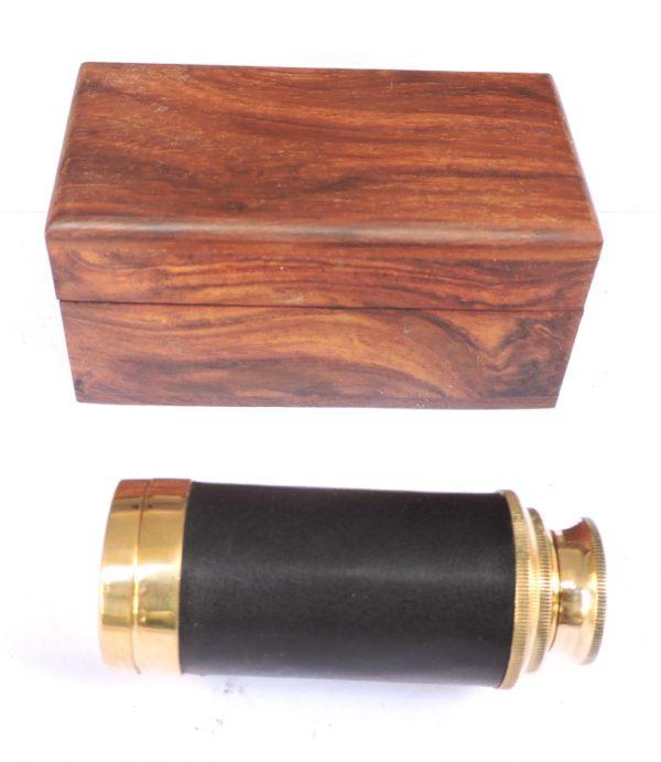 pudełko drewniane na lunetę
