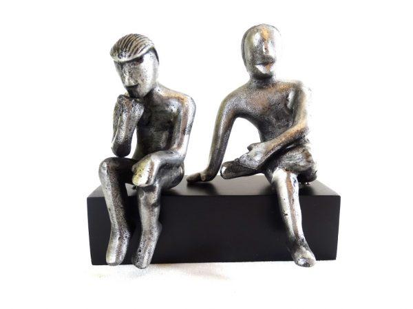 Bliźnięta - znak zodiaku - figurka aluminiowa