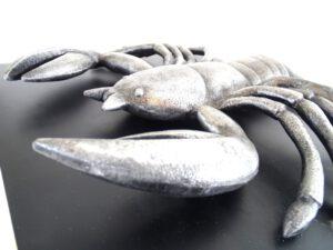 Rak - znak zodiaku - figurka aluminiowa na drewnianej podstawie - 1