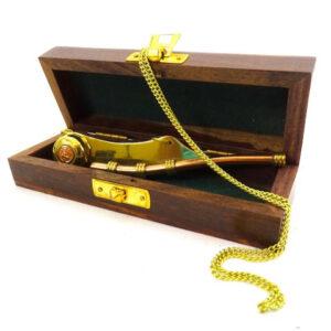 Gwizdek bosmański w pudełku drewnianym