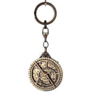 Breloczek mosiężny, astrolabium